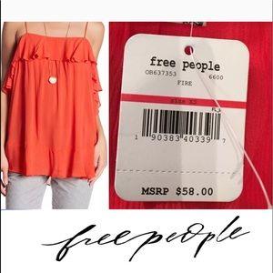 Free People Ruffle Cami